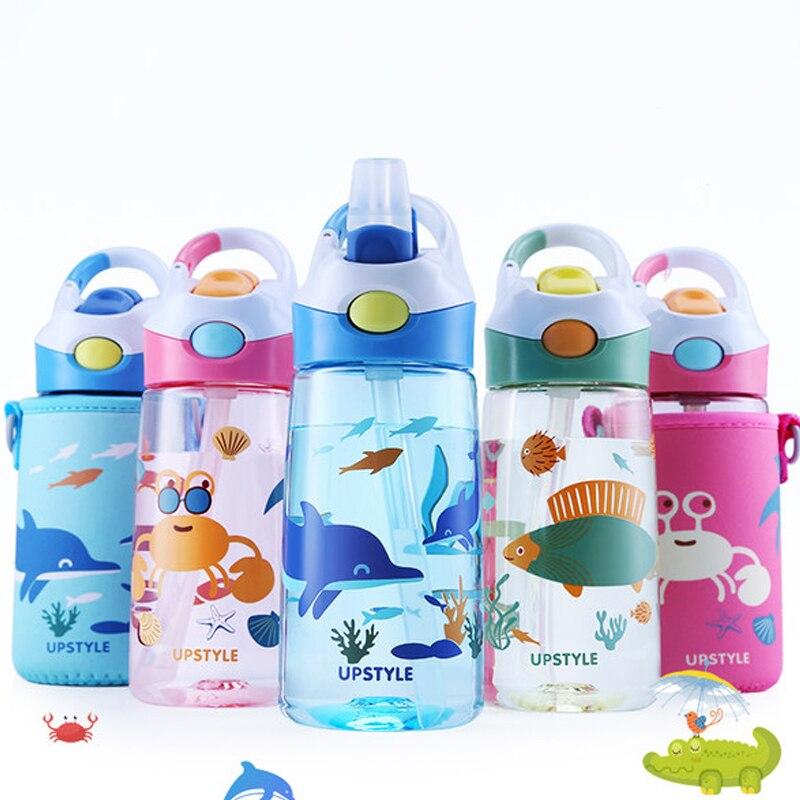 ילדים ניידים מים בקבוק שתיית קומקום הקריקטורה תת בעלי החיים Drinkware תינוק לשתות בקבוקי האכלה סרטן דגי דולפין