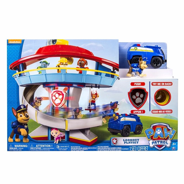 b52780d6394a US $99.9 |Genuine Original Paw Patrol Lookout Playset Toy Vehicle Parking  Lot Kids Play Set Figures Watch kids Birthday Gift Toy-in Action & Toy ...
