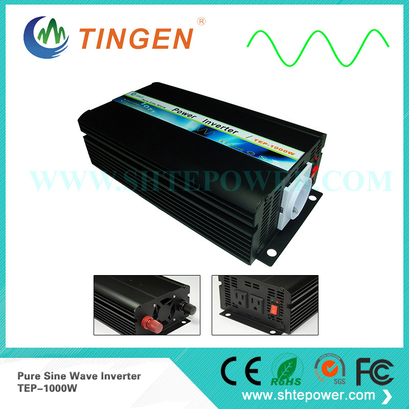 Pure sine wave off grid tie system 1KW power inverter convert DC 12V/24V/48V input to AC output 110V/120V/220V/230V TEP-1000W
