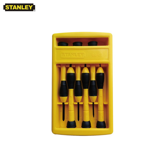 Stanley 6 pcs slotted phillips combination mini screwdriver kit multifunction 1.4mm 2.0mm 2.4mm 3.0mm #0 #1 small driver set 1