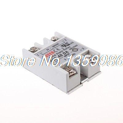 50  pcs Solid State Relay SSR-40DA 40A /250V 3-32VDC 3 32vdc 380vac 200a 2 plug wire ssr solid state relay