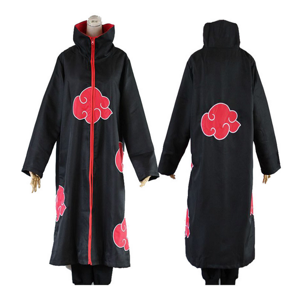Anime Costume Cloak NARUTO Akatsuki  Uchiha Itachi Wind Coat Uniform Cloak Cosplay Halloween Costumes