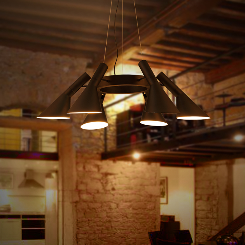 Vintage Iron Pendant Light LED Industrial Loft Retro Droplight Bar Cafe Bedroom Restaurant American Country Style Hanging Lamp loft vintage american stretch pendant light fixture cafe bar droplight aisle hall ceiling lamp bedroom dining balcony lighting