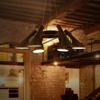 Vintage Iron Pendant Light LED Industrial Loft Retro Droplight Bar Cafe Bedroom Restaurant American Country Style Hanging Lamp