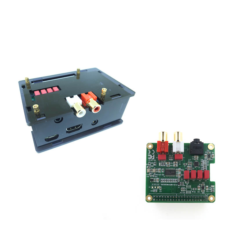 Raspberry Pi DAC Expansion Board PCM5122 HIFI Audio Module Compatible W With Case For Raspberry Pi 3 Model B+(Plus), 3B, 2B, B+
