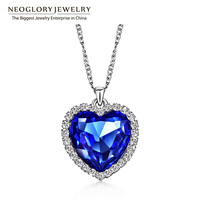Neoglory Австрийские хрустальные стразы сердце любовь цепи ожерелья и подвески для женщин модные ювелирные изделия подарки 2017