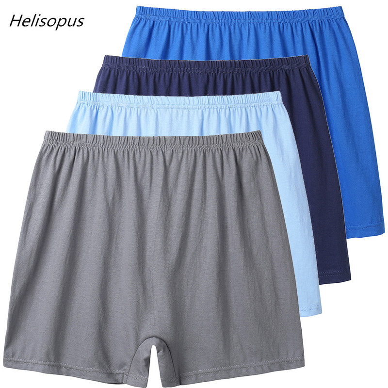 Male Cotton Loose Underwears Boxers High Waist Breathable Men's Underwear