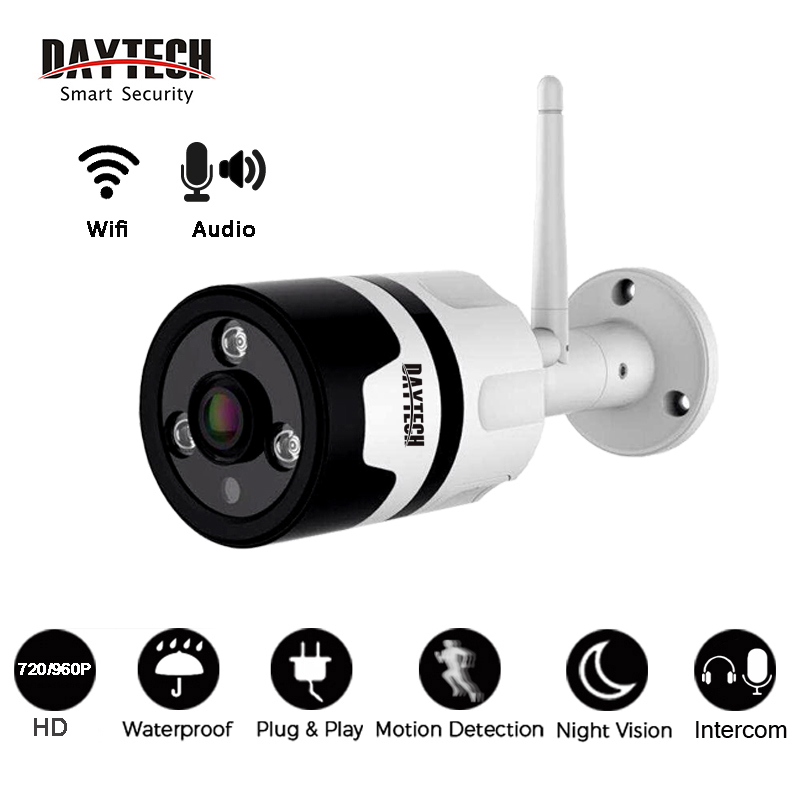 DAYTECH WiFi IP Camera Wireless Surveillance Camera CCTV Two way Audio IR Night Vision Waterproof Wi-Fi Record Video Monitor