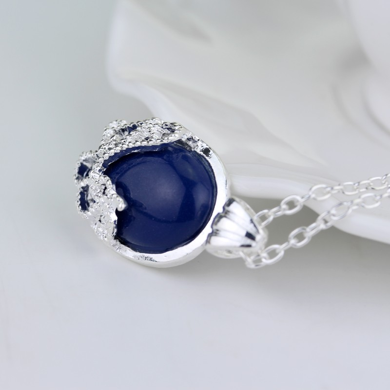 Vampire Diaries Anti-daylight Lapis Lazuli Pendant Necklace