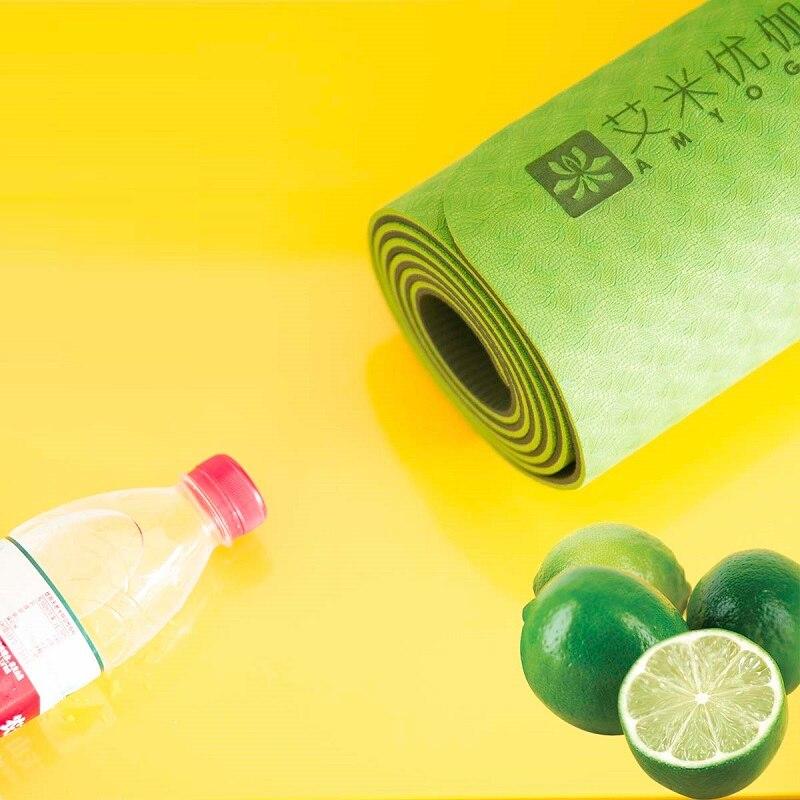 Dature TPE tapis de Yoga 6mm tapis de Fitness Fitness Yoga tapis de Sport tapis de gymnastique avec sac de Yoga coussin d'équilibre Yogamat 183*61 cm * 6mm - 3