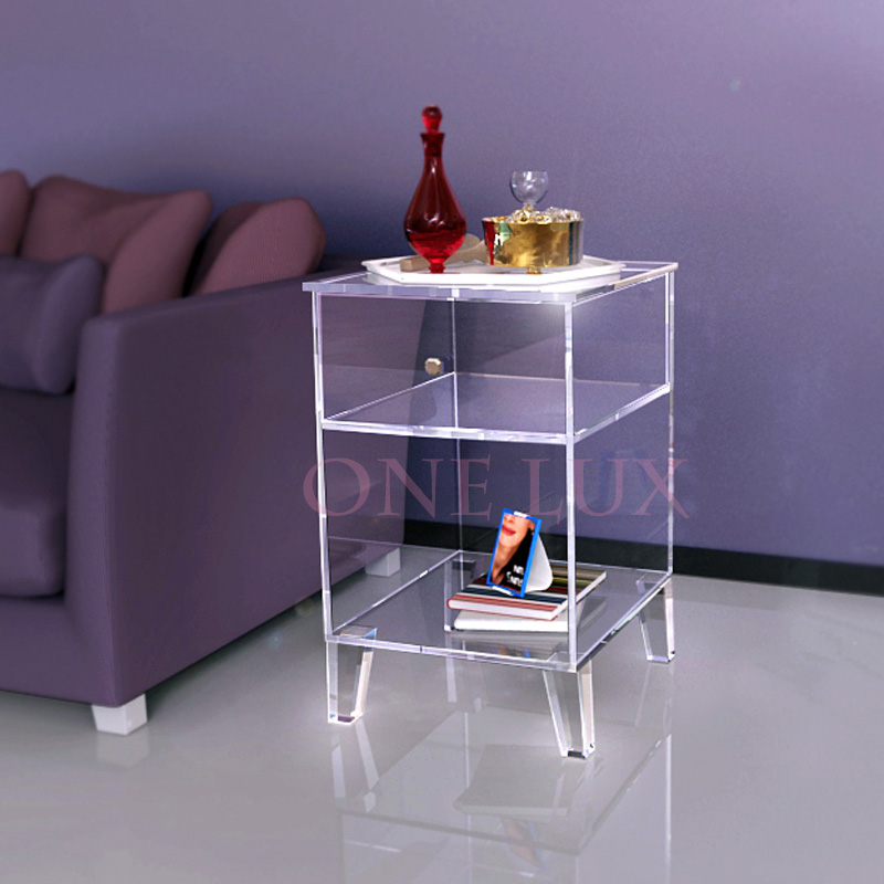 ONE LUX Clear Acrylic Nightstand Single Drawer,Lucite End Sofa Cabinet Table In  Nightstands From Furniture On Aliexpress.com | Alibaba Group