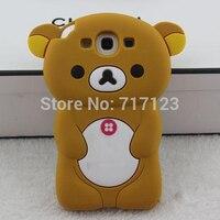 1x Cute 3D Cartoon Rilakkuma Bear Silicone Case Cover For Samsung Galaxy I9300 S3 Neo I9301