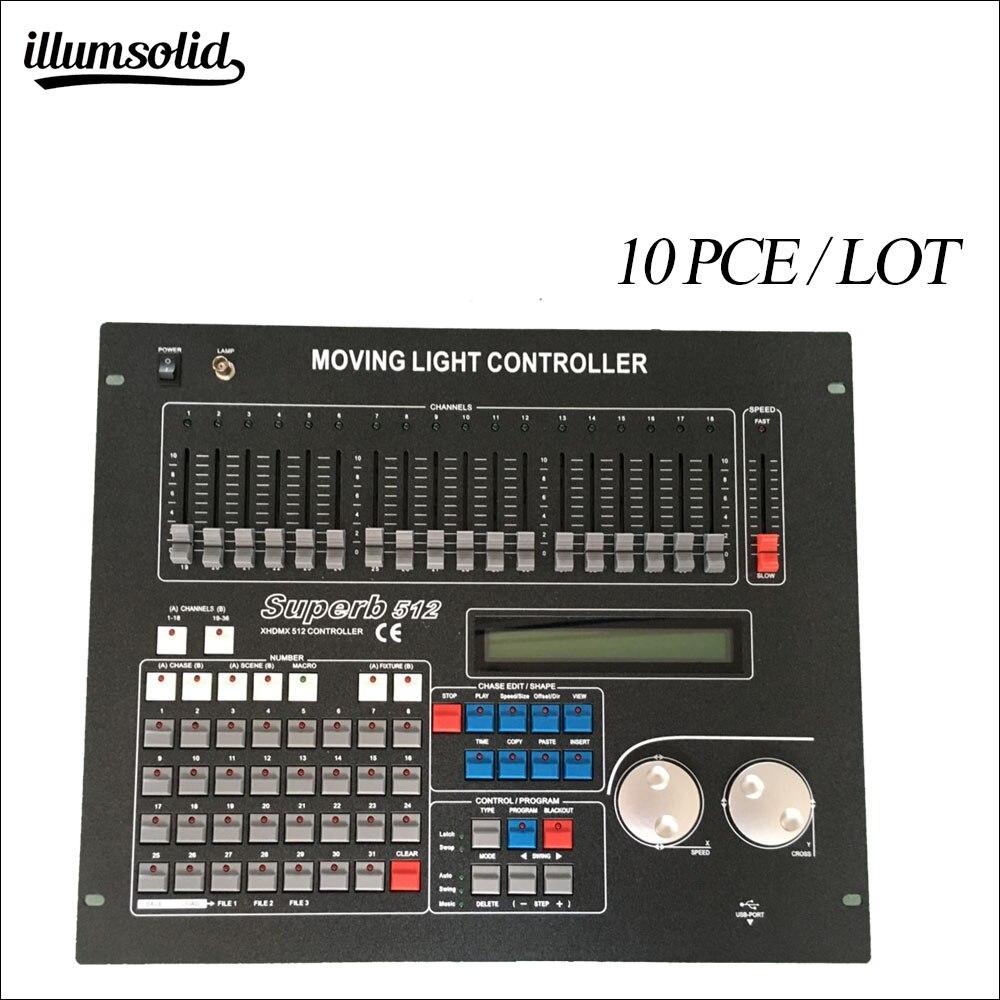 Norme internationale 512 contrôleur dmx 512 contrôleur de lumière principale mobile 10 pièces/lot