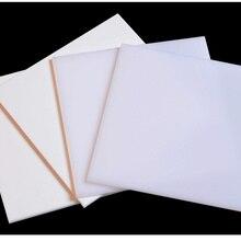 Чистая белая акриловая плата светильник цвета слоновой кости пластиковый лист из плексигласа фотоспособность органическое стекло полиметилметакрилат 200*200 мм