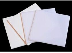 Чистая белая акриловая плата светильник цвета слоновой кости пластиковый лист из плексигласа фотоспособность органическое стекло полимет...