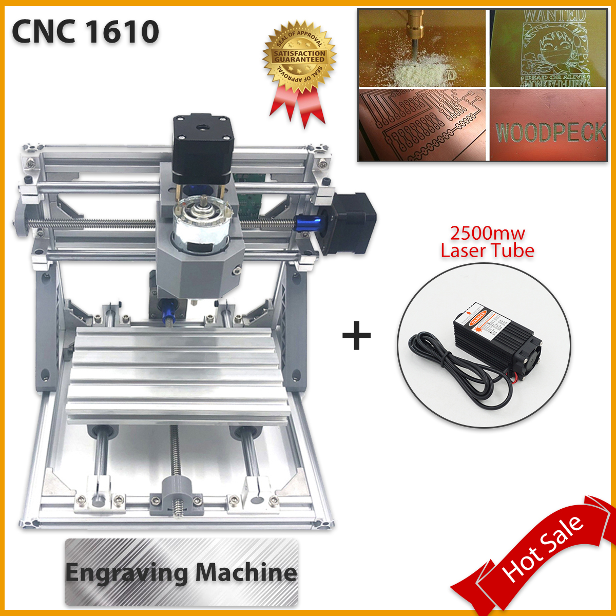CNC 1610 2500mw Laser Tube Wood Router cnc milling machine cnc kit Wood Router laser engraving machine