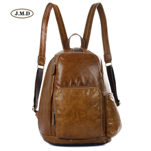 J.M.D Genuine Leather New Arrivals Style Unisex Backpack Unique Design for the Earphone Fashion Shoulder Bag 2008B