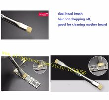dual head brush SS-022 ,hair not dropping off,good for cleaning pads of nand cpu baseband mother board(China)