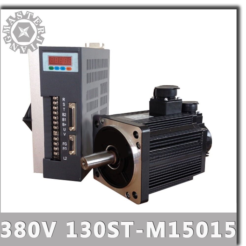 380V 2 3KW 2300W 130ST M15015 AC Servo motor 1500RPM 15N M Three Phase triple phase