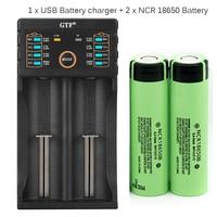 GTF 100% Оригинал 3,7 В 3400 мАч 18650 Батарея перезаряжаемый аккумулятор с Батарея зарядное устройство для 26650 14500 18340 18650 Батарея