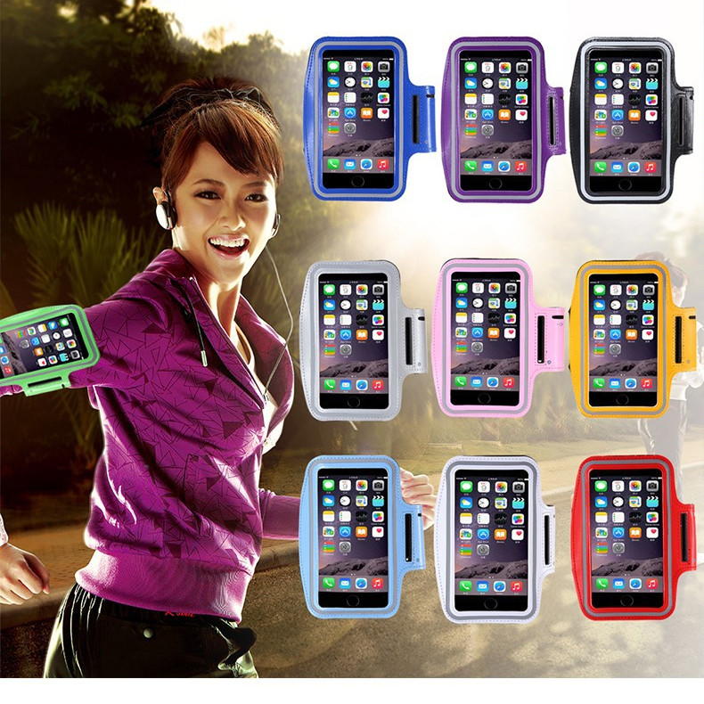 Sport Arm Band Kasus Untuk iPhone 5 6 6 S Samsung Galaxy S5 S6 Tepi - Aksesori dan suku cadang ponsel - Foto 2