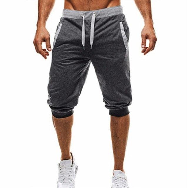 2019 Moda Verão Calções Homens de Fitness Casual Jogger Shorts Homme Marca Confortáveis Calças Curtas Na Altura Do Joelho Masculinos Boardshorts