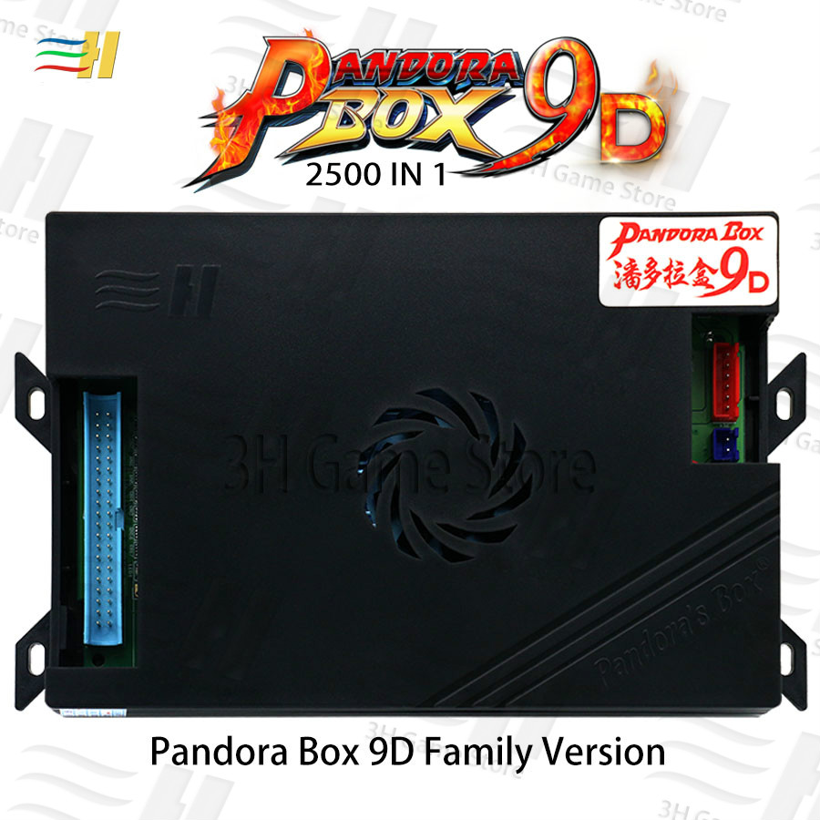 Pandora Box 9d 2500 en 1 version familiale carte mère peut 3P 4P jeu pour jeu vidéo console d'arcade machine 3d tekken mortal kombat