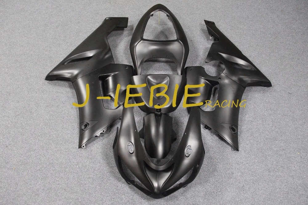 Dumb black Injection Fairing Body Work Frame Kit for Kawasaki NINJA ZX6R ZX6 ZX 6 R 2005 2006