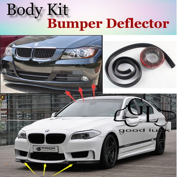 For BMW 5 M5 E28 E34 E39 E60 E61 F10 F11 F07 1988~2015 Bumper Lip Deflector Spoiler For Car Tuning / TOPGEAR Front Skirt / Strip image