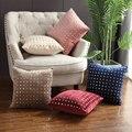 Luxus Gold Niet Kissen Abdeckung Samt Rosa Blau Elfenbein Kamel Hause Dekorative Kissen Abdeckung Für Couch Sofa 45x45 cm-in Kissenhülle aus Heim und Garten bei