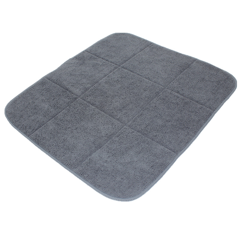 LIYIMENG 40cmx46cm Microfiber Dish Cup Bottle Drying Mat For Kitchen Tableware Bar Microfiber Cushion Pad