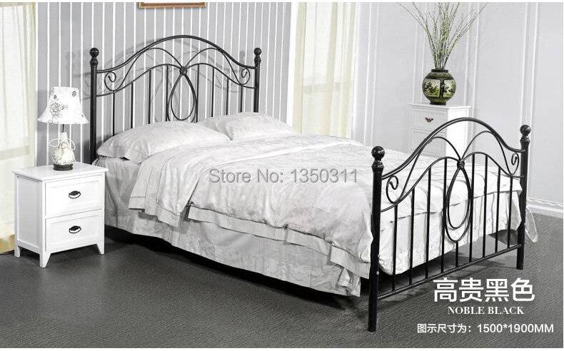 lit moderne en fer forge simple ou double largeur 1 2 m a 1 8 m 2 metres de longueur peut etre personnalise