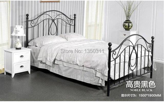 US $750.6 |moderno , metallo in ferro battuto letto , singolo o doppio .  larghezza ( 1.2 m a 1.8 m ) * 2 metri di lunghezza , può essere ...
