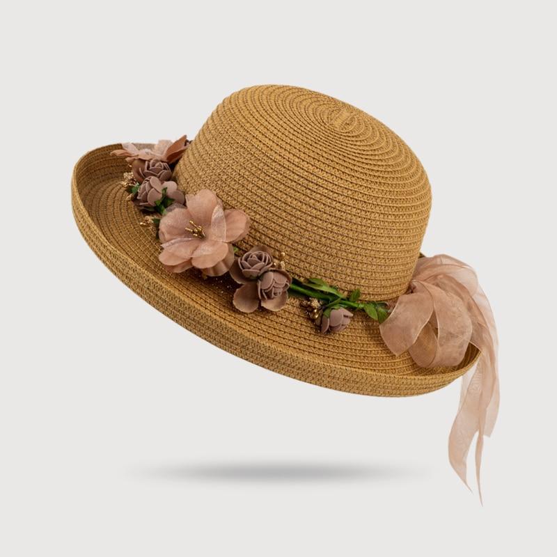 HSS New Garland Blumen Strohhüte Lady Sommer Strand Hut Frauen - Bekleidungszubehör