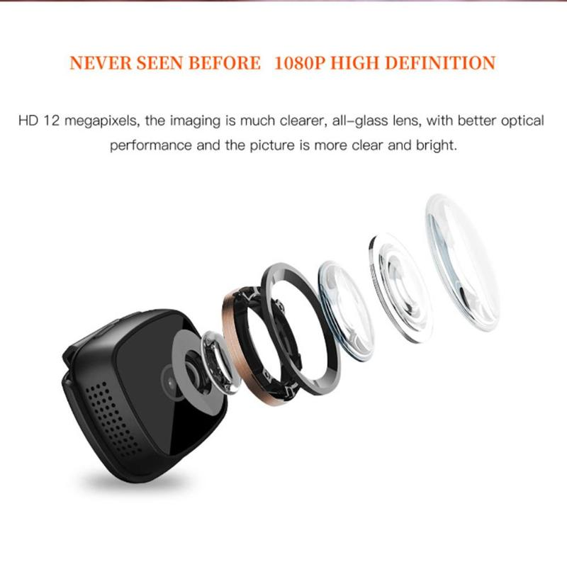 Image 5 - New C9 DV 1920x1080P HD 2MP Mini Camera Night Vision Camcorder Car Sport DV DVR Recorder with 6 high bright LED lights-in Mini Camcorders from Consumer Electronics