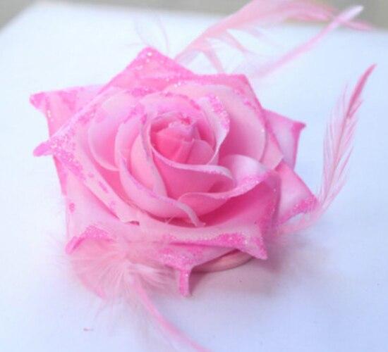 2017 Pink Big Rose Flower Headbands font b Women s b font Hair font b Accessories