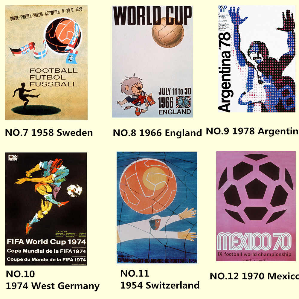 Carnival Night Football World Cup Poster 30X42 CM Vintage Kraft Paper HD Inkjet Printing Art Set Wall Sticker Home Decoration