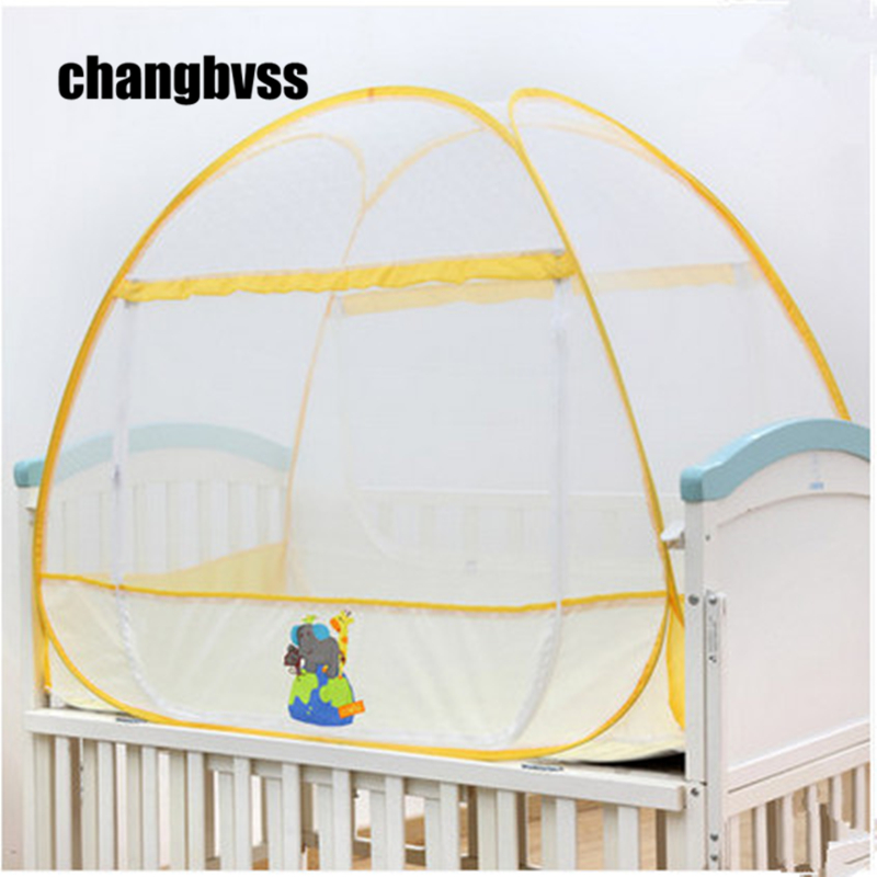 Mongolian Yurt Tent for Infant Crib Baby Mosquito Net Baby Bed Mosquito Nets Tent Folding Children Camping Tent Baby Bed Canopy 3pcs set pink baby bedding crib netting folding baby music mosquito nets bed mattress pillow baby crib for baby bed accessories