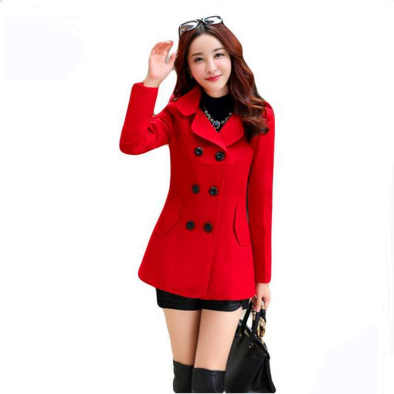 ENLU New Fashion Women Woolen Coats High-end Elegant Long Slim Women Winter Jacket Royal Coats&Jackets Plus Size Femininos M-4XL