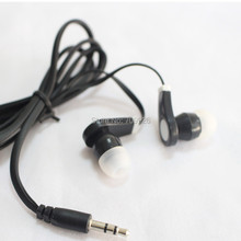 Wholesale 5000pcs Disposable earphones headphones low cost earbuds for Theatre Museum School library,hotel,hospital Gift