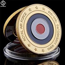 Luxemburgo real força aérea aposentado ouro chapeado moeda militar moeda comemorativa euro fantasia desafio moeda colecionáveis