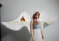Top sale White big Angel Feather wings costume show party wedding sexy cosplay props Large fairy wing