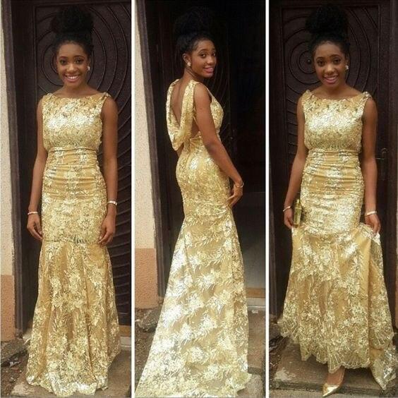 2017 Mode Longue Mode Africaine Nigérian Ghanéen Sirène Robes De Soirée  Turc Robes De Bal D