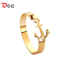 2017 New Arrival Fashion Anchor Bracelets for Women Men Jewelry Plated Gold Bracelets Bangles Best Friendship Pulseras