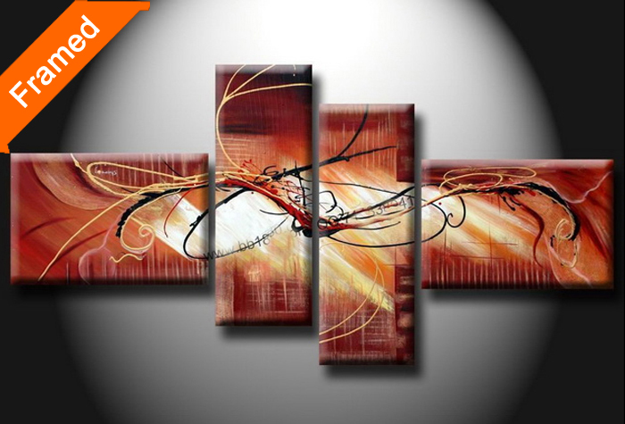 Abstract Oil Painting 100 Handpainted Artwork Multi Panels Canvas Art For Living Room Wall Paintings