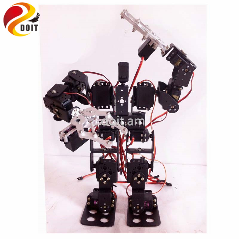 15DOF Humanoid Robot Feet Walking Robot Et komplet sæt Servo Stent Tilbehør + 2PCS Robot Metal Mechanical Claw
