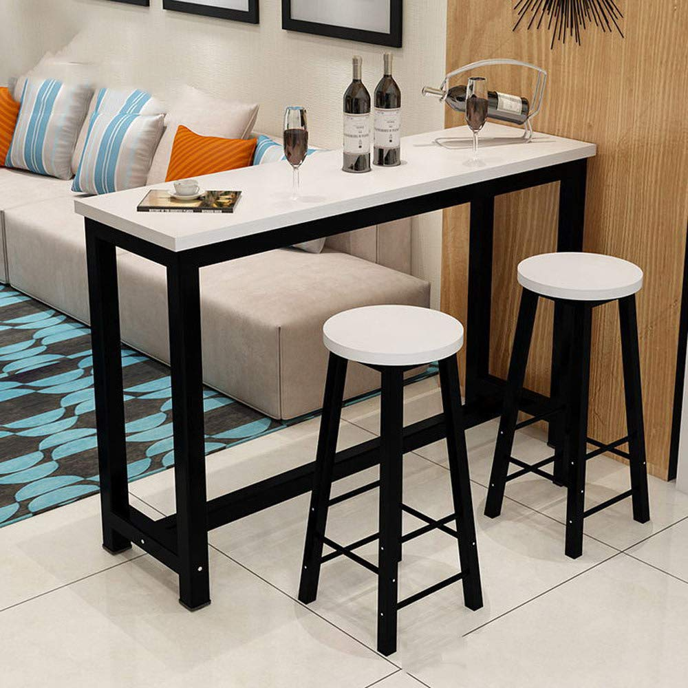 big sale d617a 1be75 US $140.99 |3 Piece Pub Table Set, Counter Height Dining Table Set with 2  Bar Stools for Kitchen Nook, Dining Room, Living Room, Small Space-in Bar  ...