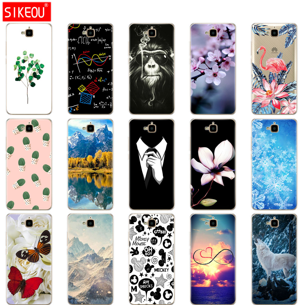 Silicone Case For Huawei Honor 4C Pro Cover Soft Tpu Back Case For Huawei Y6 Pro 2015 Case TIT-L01 TIT-TL00 Phone Protect Coque