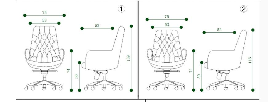 White leather boss chair. Computer chair swivel office ergonomic .69