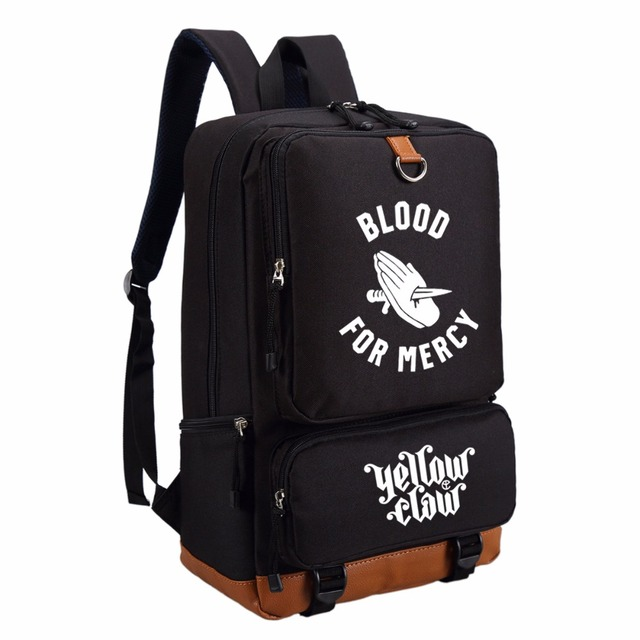 WISHOT Yellow Claw Band Backpack Men Womens Student School Bags Travel Shoulder Bag Laptop Bookbag For Teenagers